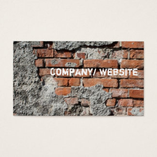 Urban Brick Graffiti Business Card