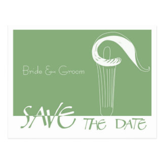 Urban Cala Lily Save The Date Card Postcard