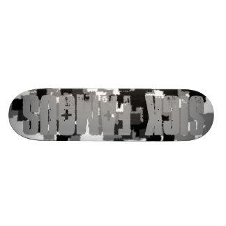 Urban camo logo deck skate decks