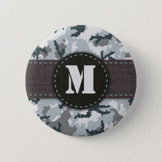 Urban camouflage 6 cm round badge
