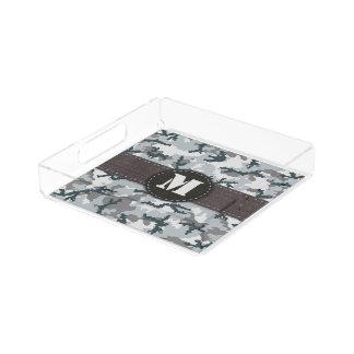 Urban camouflage acrylic tray
