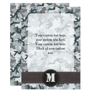 Urban camouflage card