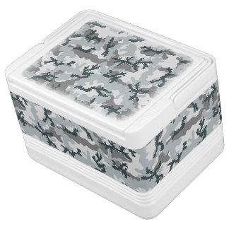 Urban camouflage igloo cool box