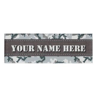 Urban camouflage name tag