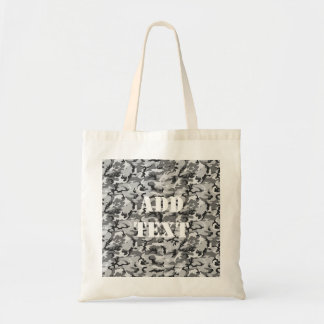 Urban Camouflage Pattern - Black & Grey Budget Tote Bag