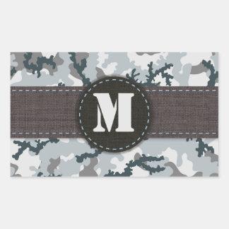Urban camouflage rectangular sticker