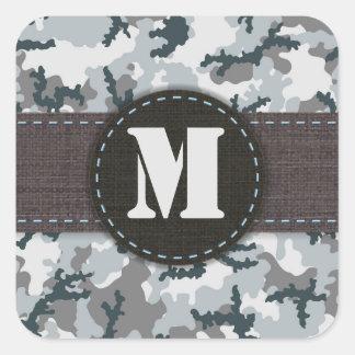 Urban camouflage square sticker