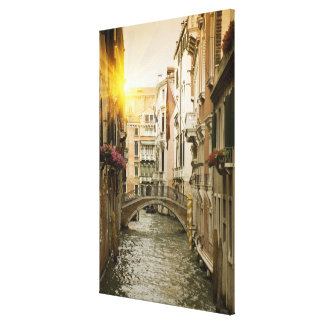 Urban Canal Gallery Wrapped Canvas