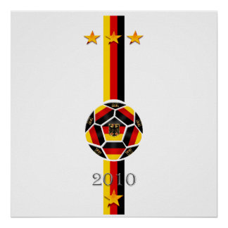 Urban Chic 3 star Germany soccer flag logo Poster
