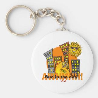 Urban Chick Basic Round Button Key Ring