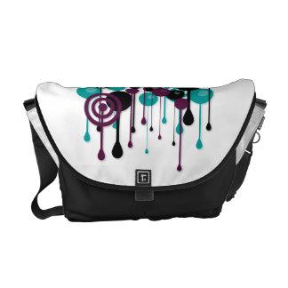 Urban Circles Custom Name White Courier Bags