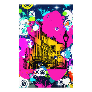 urban city graffiti paint splatter design colorful customized stationery