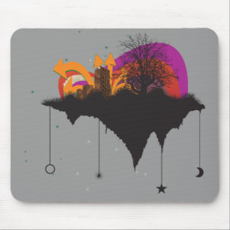 urban city in the sky mouse pads