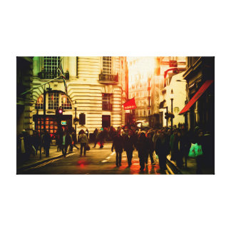 Urban City Painting Gallery Wrap Canvas