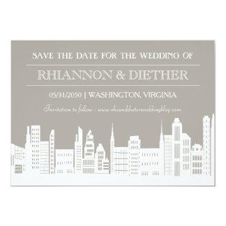 Urban City Save the Dates 13 Cm X 18 Cm Invitation Card