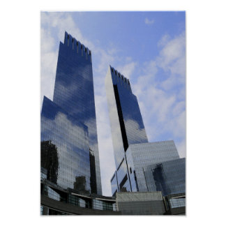 Urban City Skyscraper Architecture Poster