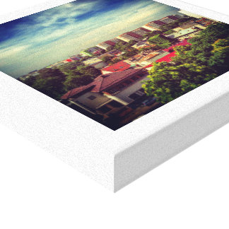 Urban City View Canvas Print