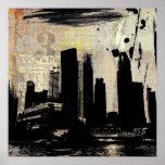 urban cityscape decay poster