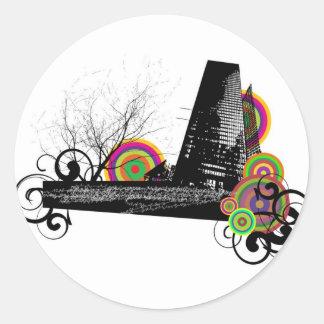 Urban Classic Round Sticker