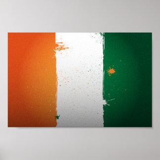 Urban Cote d'Ivoire Flag Poster