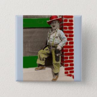 urban cowboy 15 cm square badge