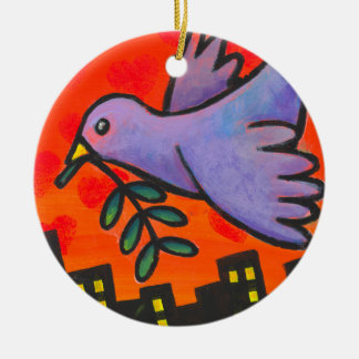 Urban Dove Christmas Ornament
