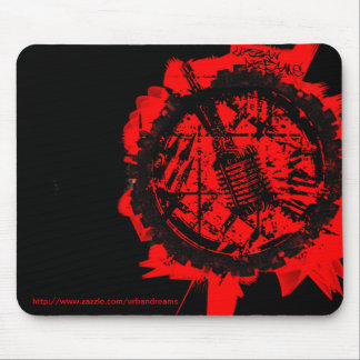 Urban Dreams Gritty Logo City Mouse Pad