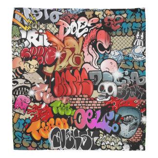 Urban dynamic street art Graffiti art pattern Bandana