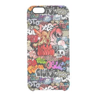 Urban dynamic street art Graffiti art pattern Clear iPhone 6/6S Case