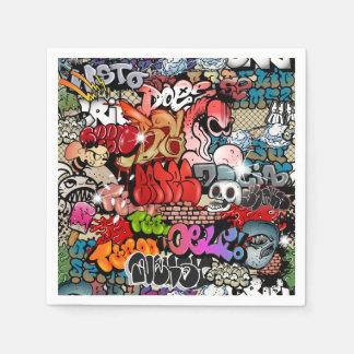 Urban dynamic street art Graffiti art pattern Disposable Serviette