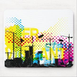 Urban dystopian landscape mouse mat