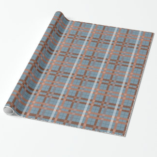 Urban Earth tone Plaid Pattern Wrapping Paper