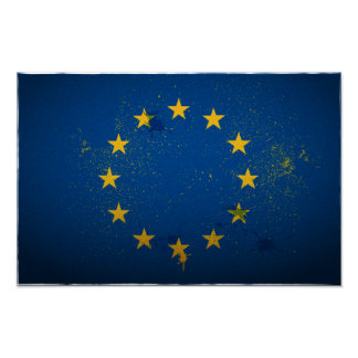 Urban European Union Flag Poster
