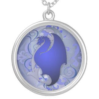 Urban Fantasy Blue Dragon Necklace