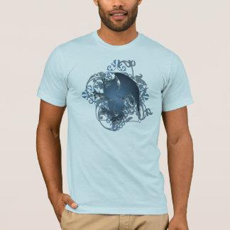 Urban Fantasy Blue Griffin Grunge Mens T-Shirt