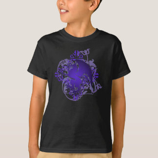 Urban Fantasy Purple Griffin Grunge Kids T-Shirt