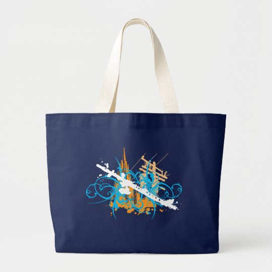 Urban Flute Large Tote Bag