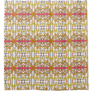 Urban Garden-Abstract Geometric Shower Curtain