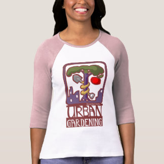 urban gardening raglan t-shirts