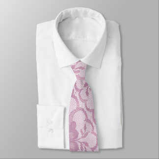 Urban Glam Bright Mauve Raspberry Pink Lace Tie