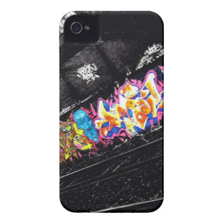 urban graffiti street art black & white with color Case-Mate iPhone 4 cases