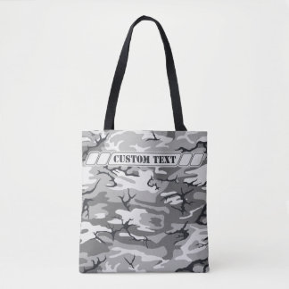 Urban Gray Camo Tote w/ Custom Text