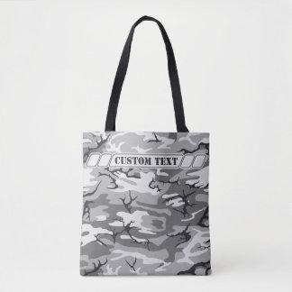 Urban Gray Camo Tote w/ Custom Text Tote Bag
