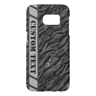 Urban Gray Striped Camo Phone Case w/ Custom Text