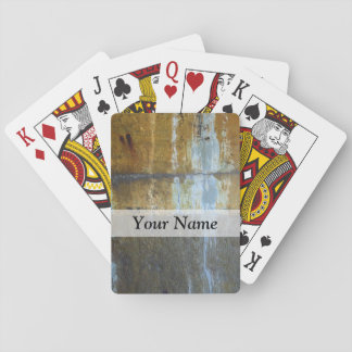 Urban grunge abstract pattern playing cards