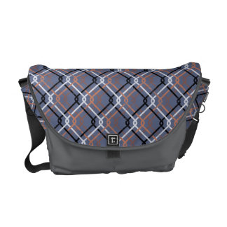 """Urban Grunge. """"Cain-link Check"""" pattern. Cycle bag Commuter Bags"""