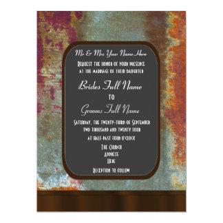 Urban grunge chalkboard style alternative wedding 17 cm x 22 cm invitation card