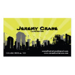 Urban Grunge Cityscape - Yellow Pack Of Standard Business Cards