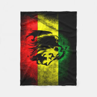 Urban Grunge Rasta Flag Fleece Blanket