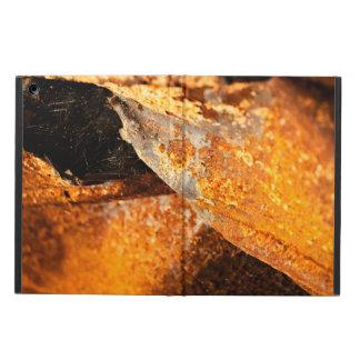 urban grunge rust orange twisted metal iPad air cover